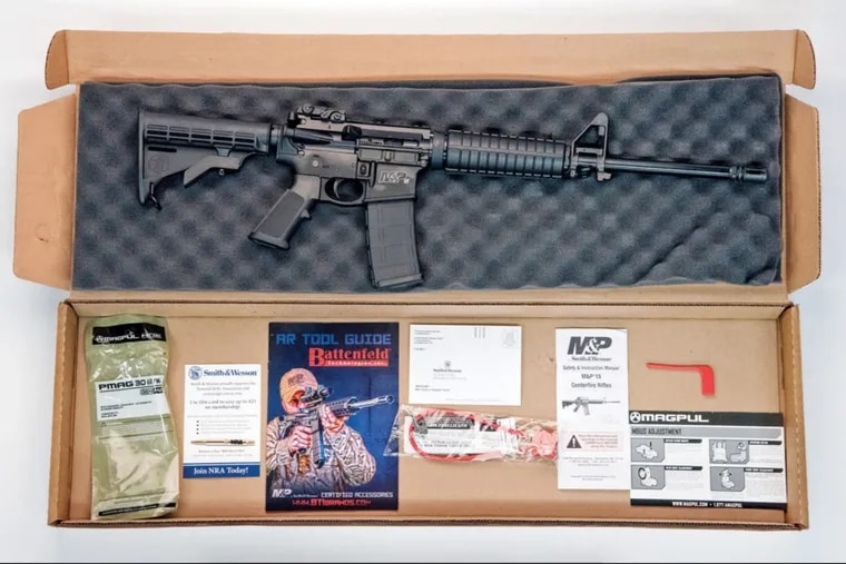 Semi-automatic assault weapons, like the AR-15 pictured here, are at the heart of mass shootings like Texas.