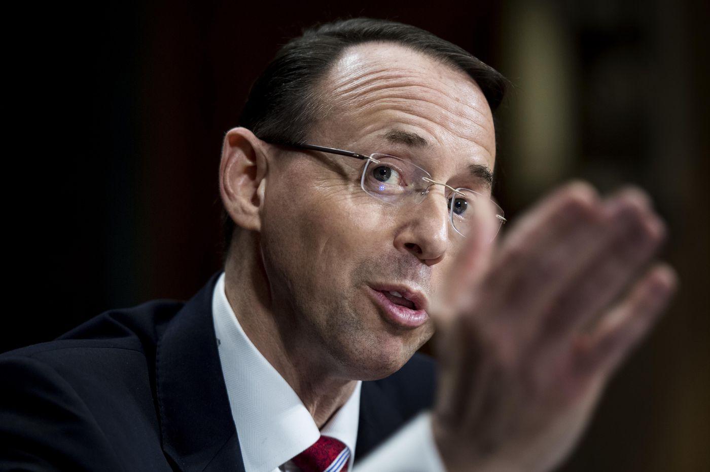 Rod Rosenstein defends William Barr's handling of Mueller report