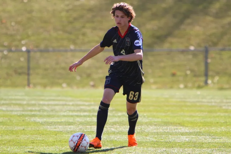 """Bethlehem Steel coach Brendan Burke describes 17-year-old Medford native Brenden Aaronson as """"definitely one of the most creative midfielders — creative players in general — that I've seen come out of the academy. … His mind is always two steps ahead of the game."""""""