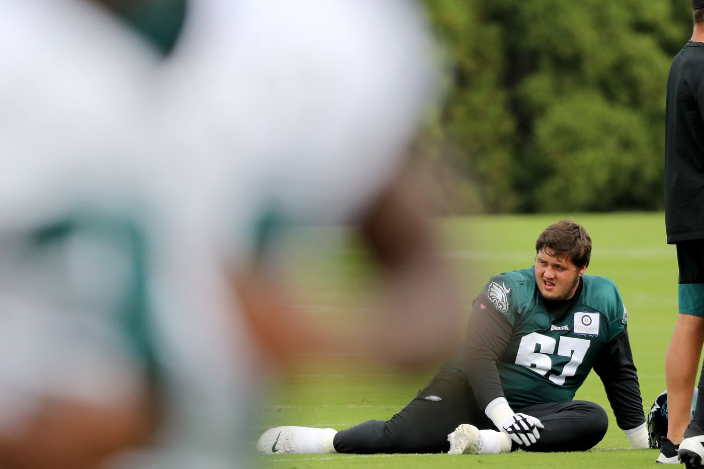 Nate Herbig can't afford to drop his guard as he's an Eagles starter against Aaron Donald and the Rams