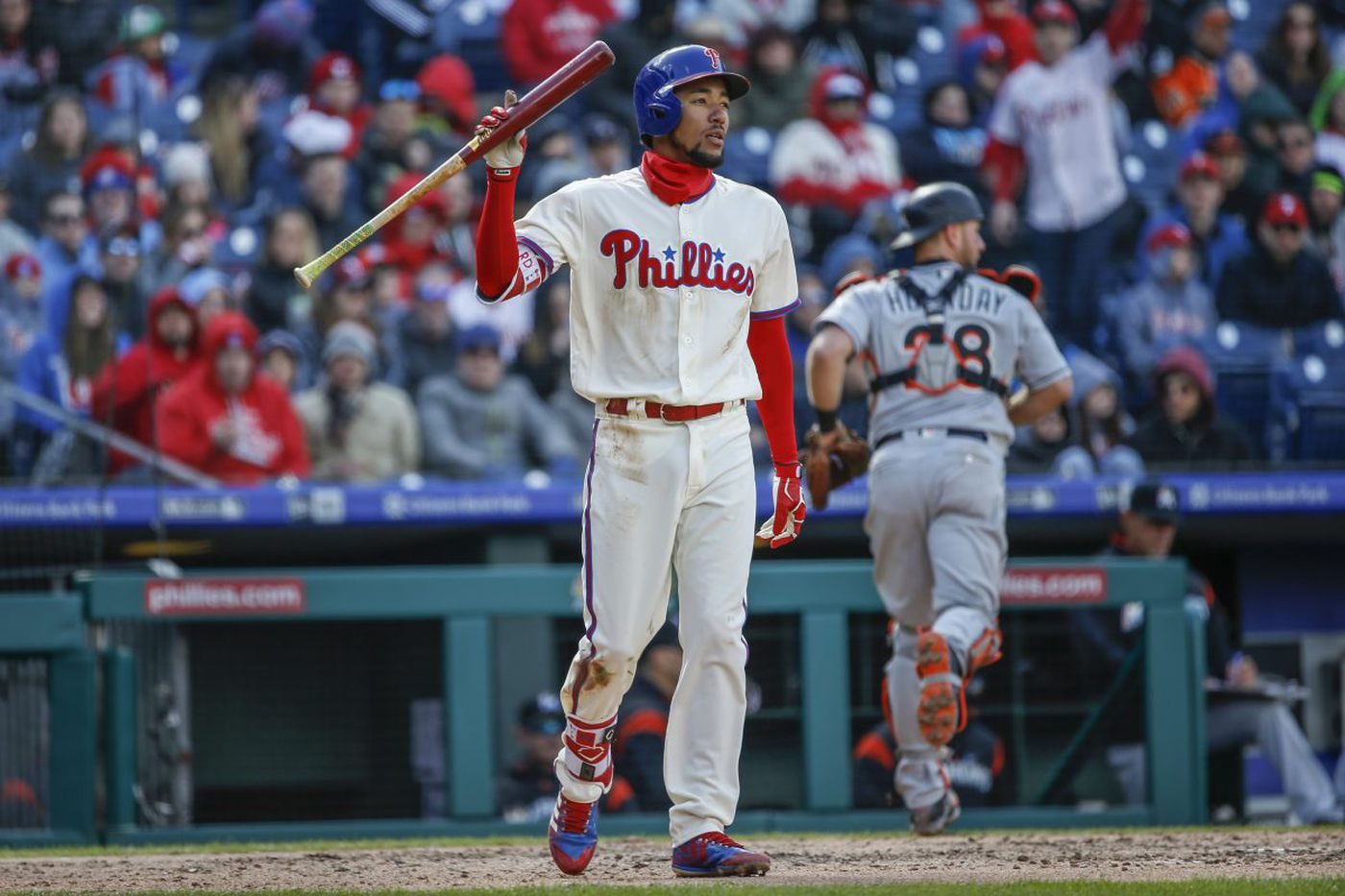 Phillies' J.P. Crawford struggling to shorten his swing