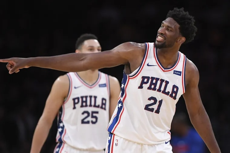 Sixers center Joel Embiid, had a career night against the Lakers on Wednesday.