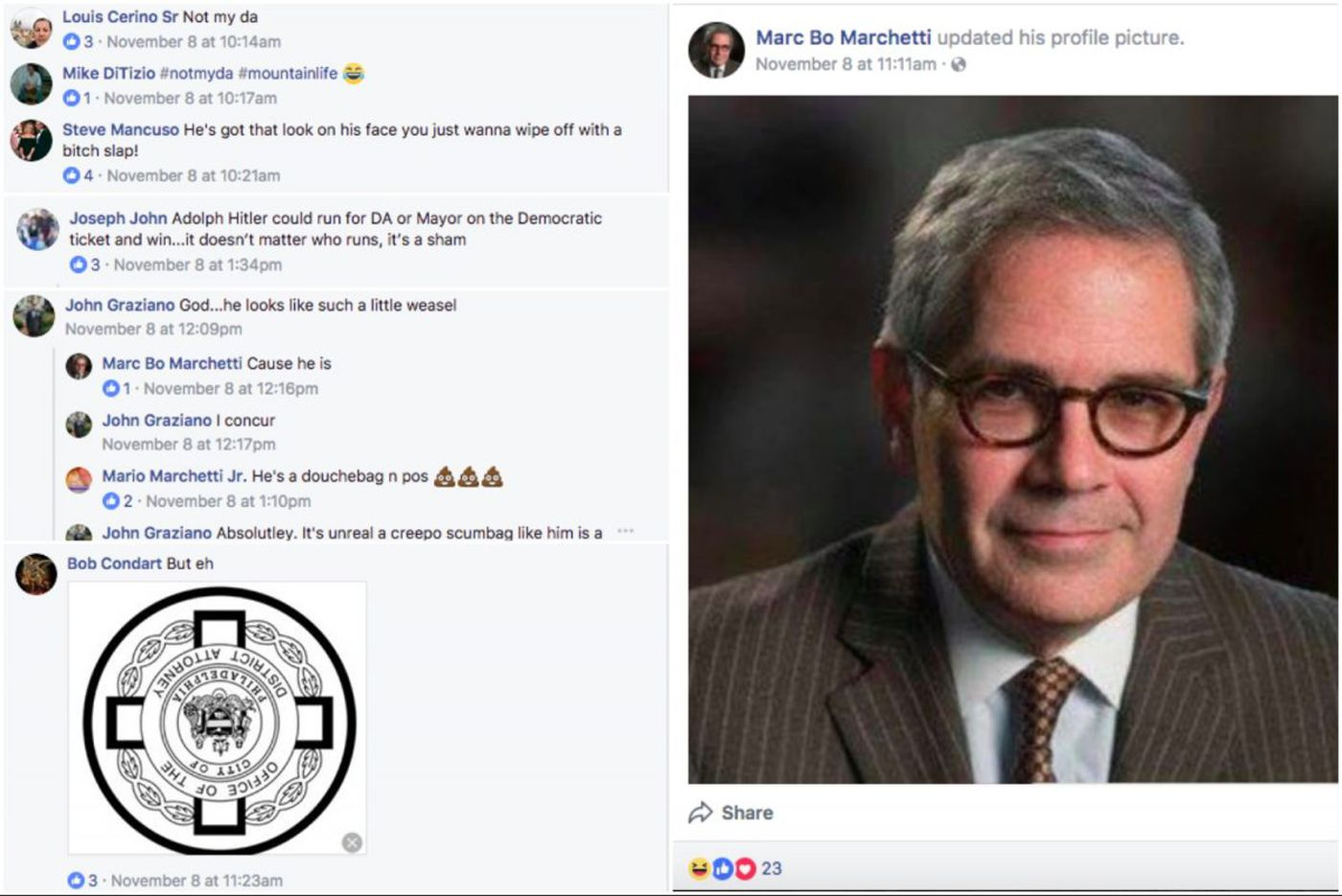 Philly police officers on Facebook: Krasner is #notmyDA