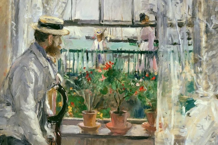 Detail of In England (Eugene Manet on the Isle of Wight), oil on canvas by Berthe Morisot. Manet was Morisot's husband.  Musee Marmottan Monet, Paris. Photo by Erich Lessing / Art Resource, NY.