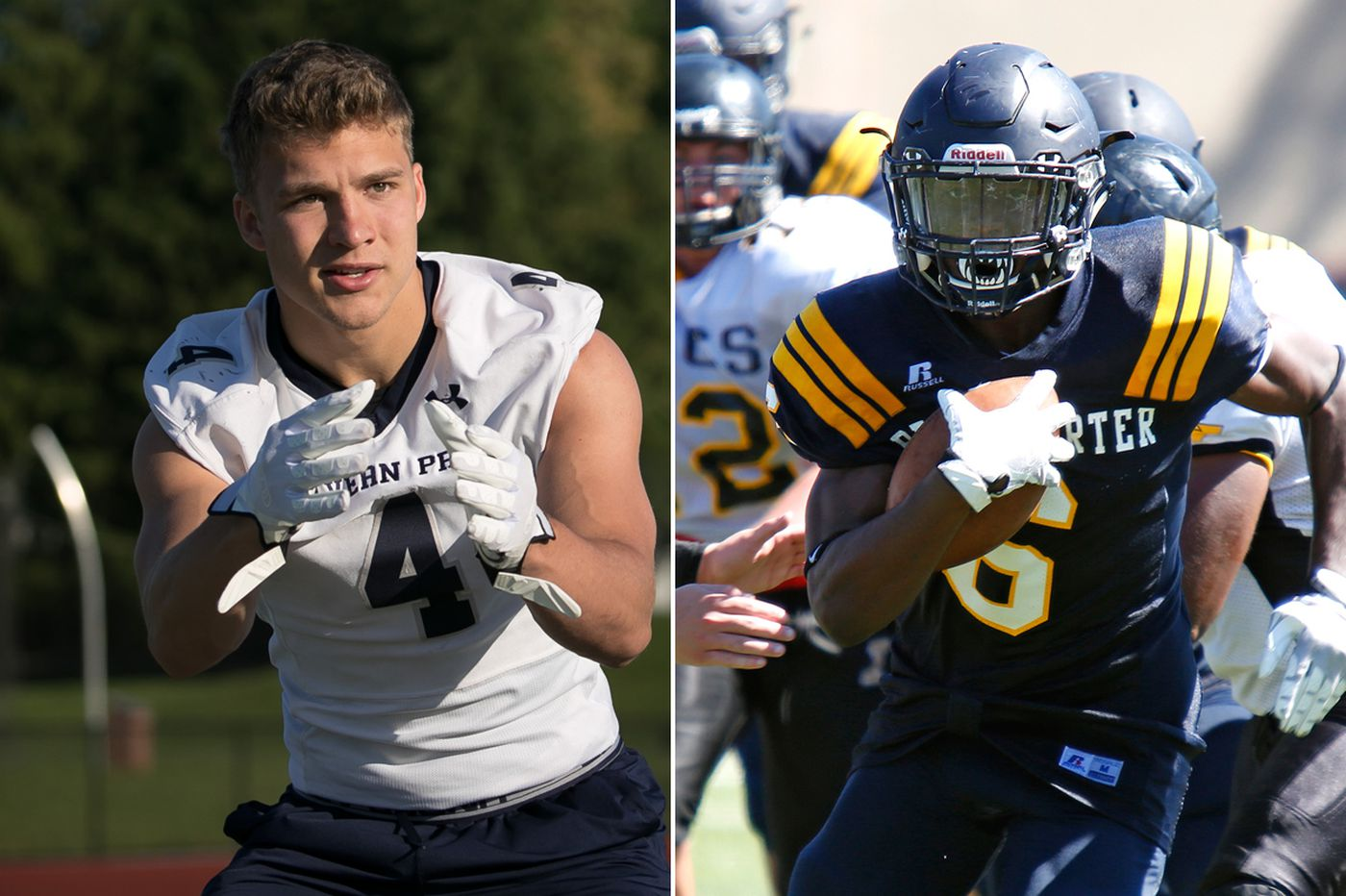 Malvern Prep's Keith Maguire and Penn Charter's Edward Saydee are co-MVPs of Inter-Ac football team