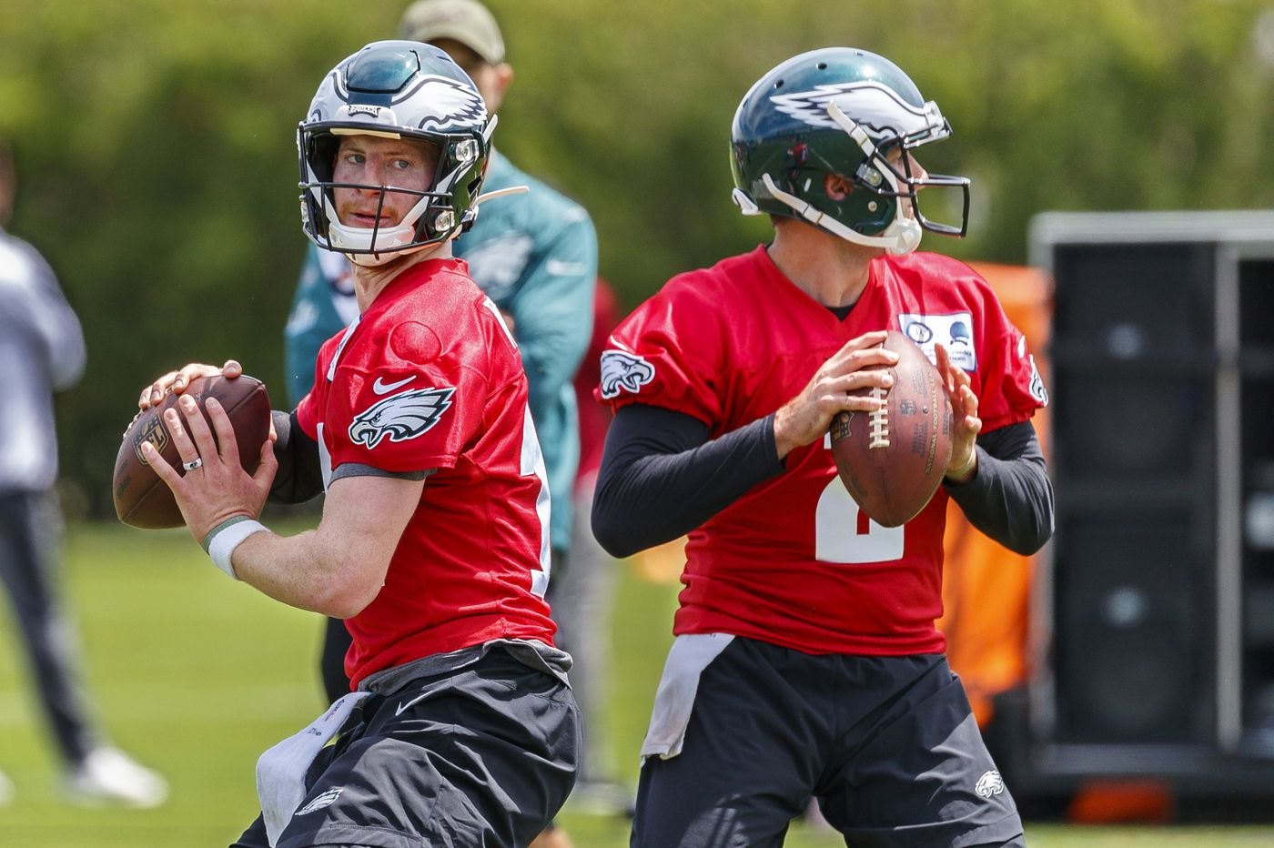 Eagles QB Carson Wentz 'has no limitations,' won't be held back in offseason practices