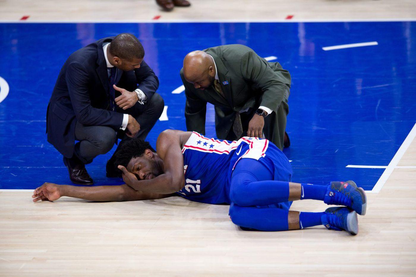 Sixers' Joel Embiid has surgery on orbital bone, could return in two weeks depending on pain