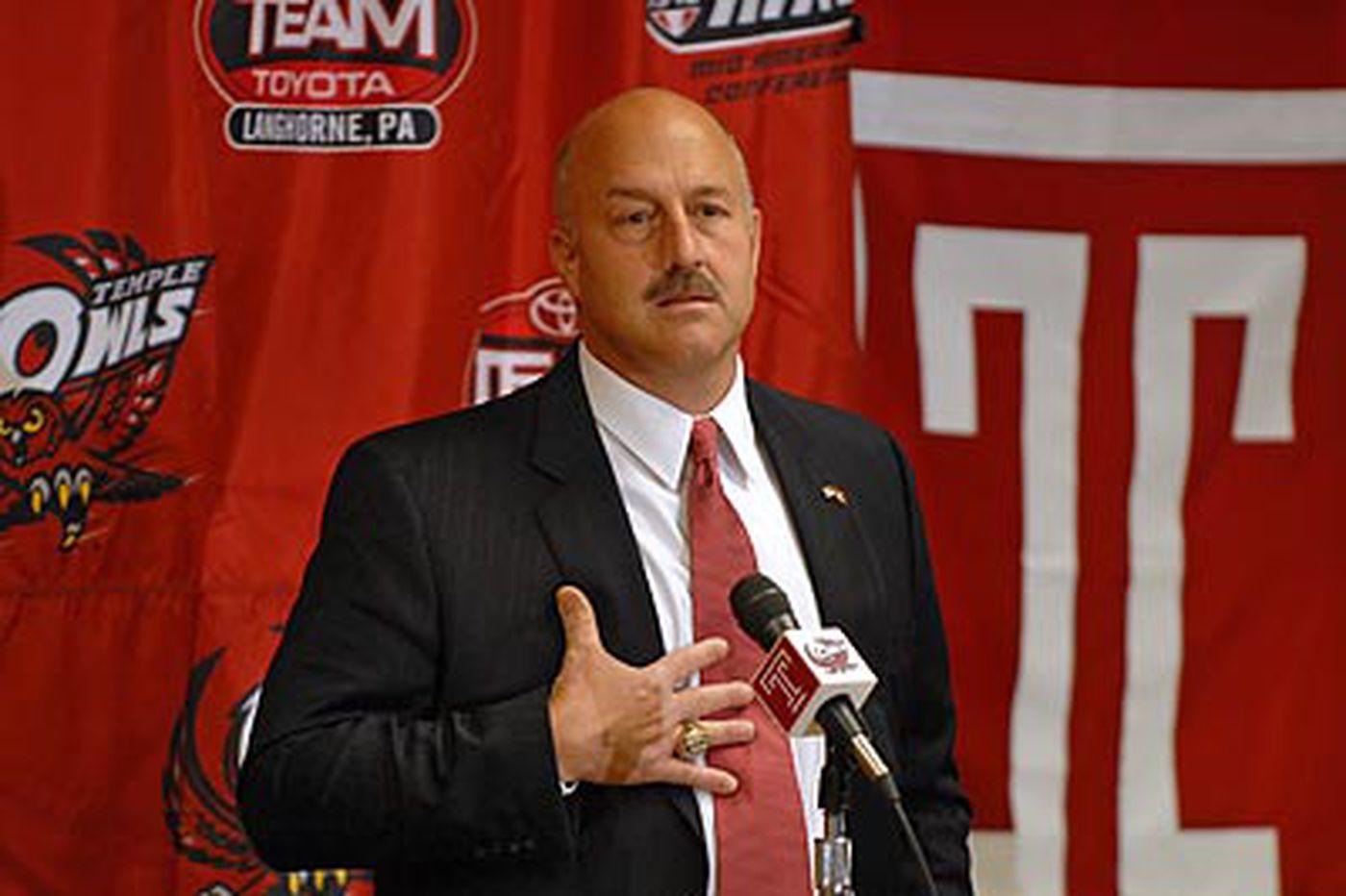Temple introduces Addazio as football coach