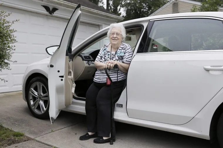 Dolores Munson of Stratford gets in her car. Her daughter thinks she should stop driving.