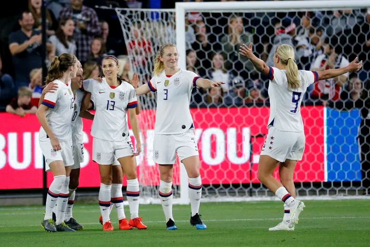 From left to right: Tierna Davidson, Carli Lloyd, Alex Morgan, Samantha Mewis and Lindsey Horan. All five players are expected to be on the U.S. women's soccer team's World Cup roster.