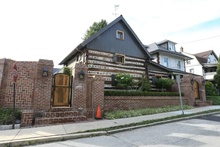 Jude Plum discovered this 300-year-old log home under layers of exterior. For four years, he has researched and restored this oddity right next to Bryn Mawr Hospital.