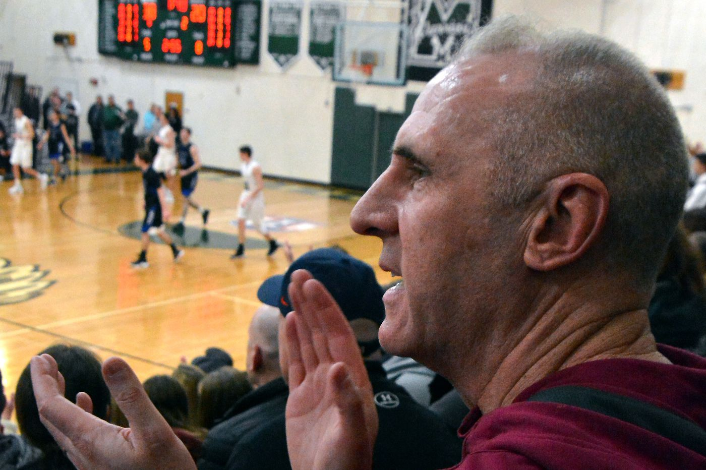 Dave Duda, coach and father, or father and coach -- depending on the hour   Mike Jensen