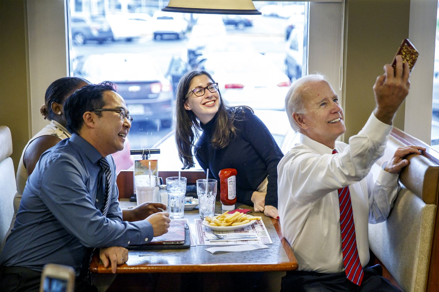 At Burlington County diner, Joe Biden rallies support for Democratic House candidate Andy Kim