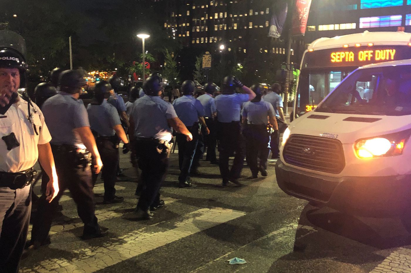 SEPTA is transporting busloads of Philly police to help control the protests