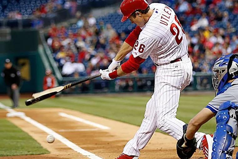 Phillies second baseman Chase Utley. (Yong Kim/Staff Photographer)
