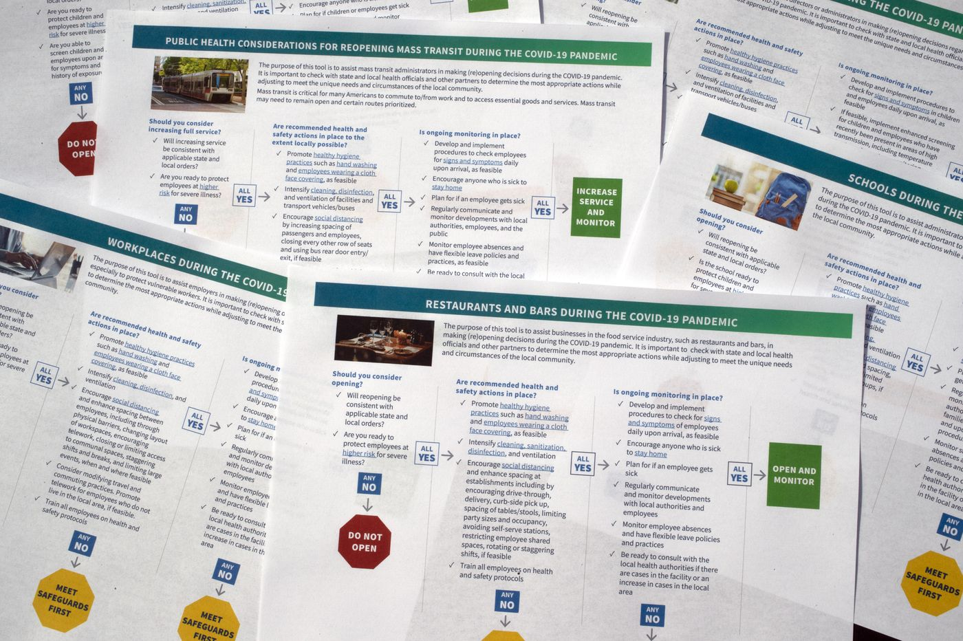 CDC offers brief checklists to guide businesses, schools, and others on reopening