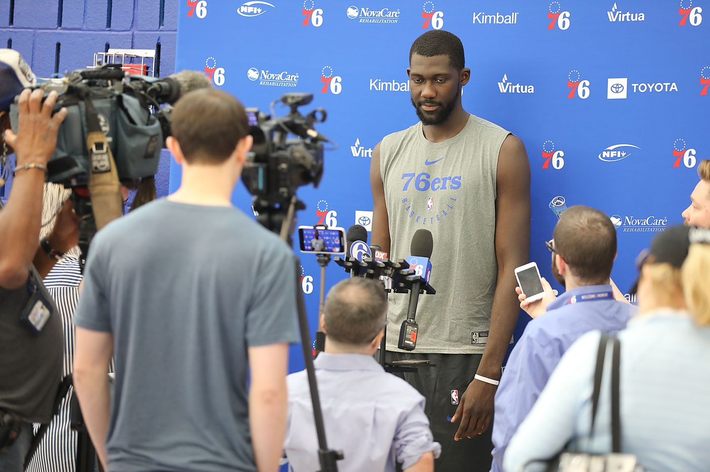 7-foot-4 Christ Koumadje stands out in Sixers predraft workout
