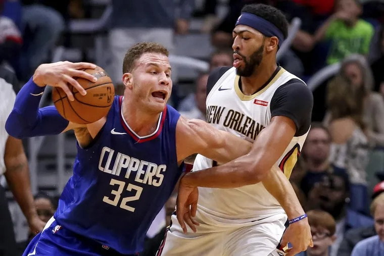 Clippers forward Blake Griffin tries to get past New Orleans forward Anthony Davis (23) in the first half Saturday.
