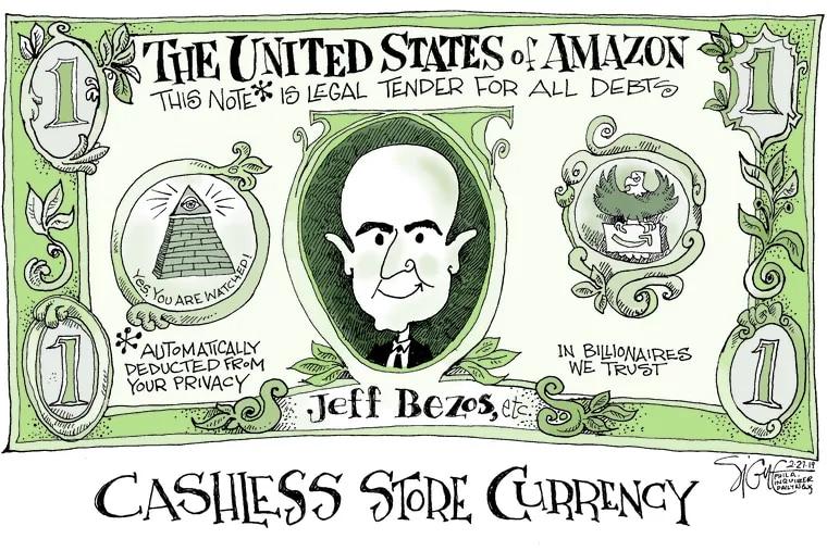 Signe Wilkinson cartoon du jourTOON27Cashless Store