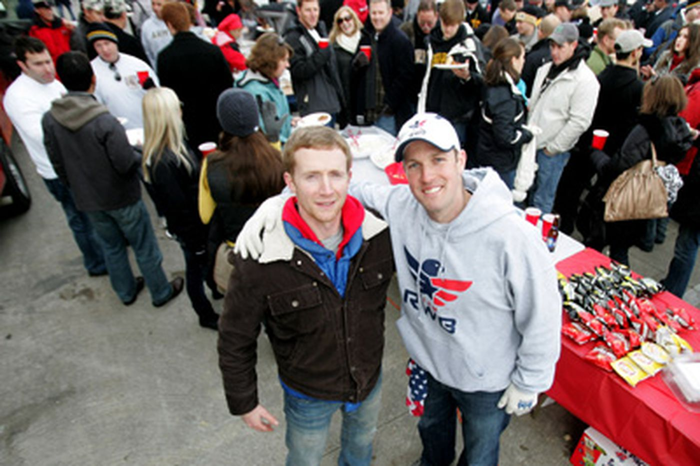 An Army-Navy party for wounded vets