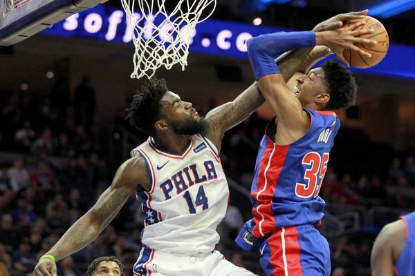 76ers' reserve center Norvel Pelle brought teammates to their feet with breakout fourth quarter