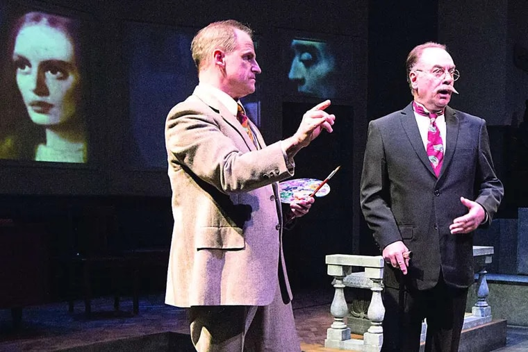 """""""The Craftsman"""": Anthony Lawton (left) and Paul L. Nolan in the world-premiere production of Bruce Graham's play by Lantern Theater Company. MARK GARVIN"""