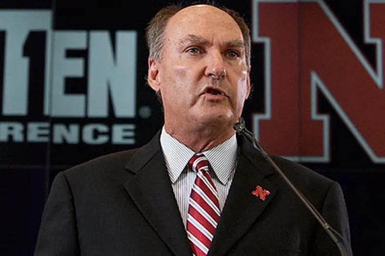 Big Ten commissioner Jim Delany has proposed paying student-athletes a stipend with their scholarships. (Nati Harnik/AP file photo)