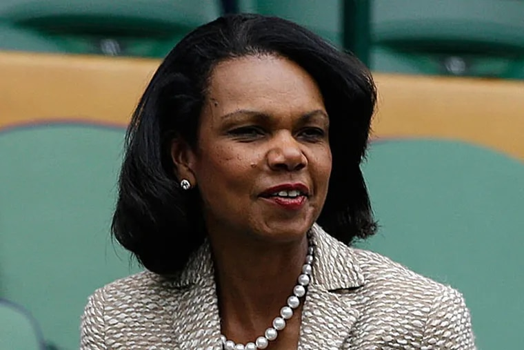 Condoleezza Rice has scrapped plans to give a commencement speech at Rutgers University after students protested. (Anja Niedringhaus/AP/File)