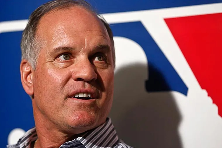 Philadelphia Phillies manager Ryne Sandberg talks about his team during a news conference at the Major League Baseball winter meetings Tuesday, Dec. 9, 2014, in San Diego. (Lenny Ignelzi/AP)