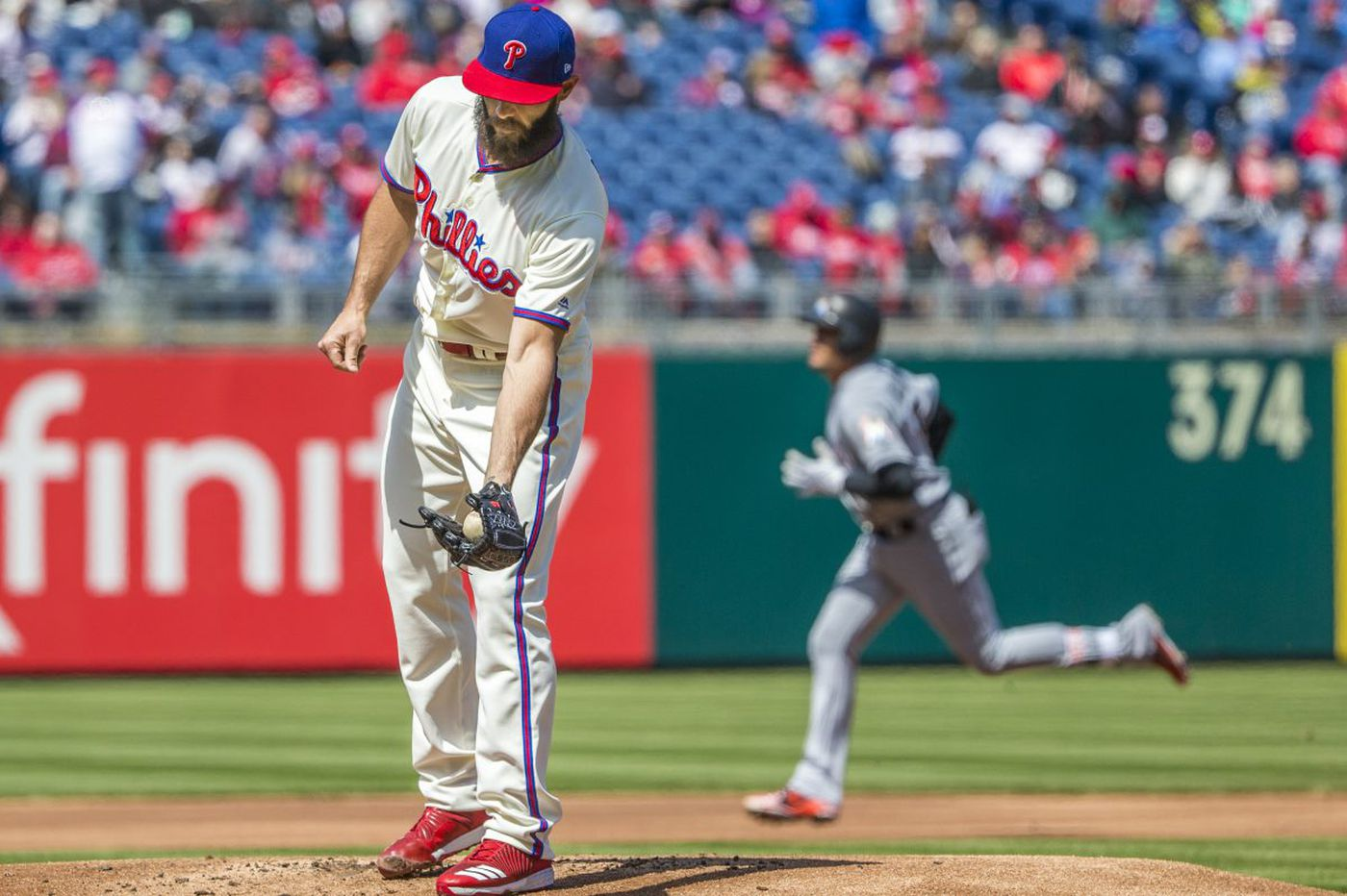 Phillies fall to Marlins in Jake Arrieta's debut