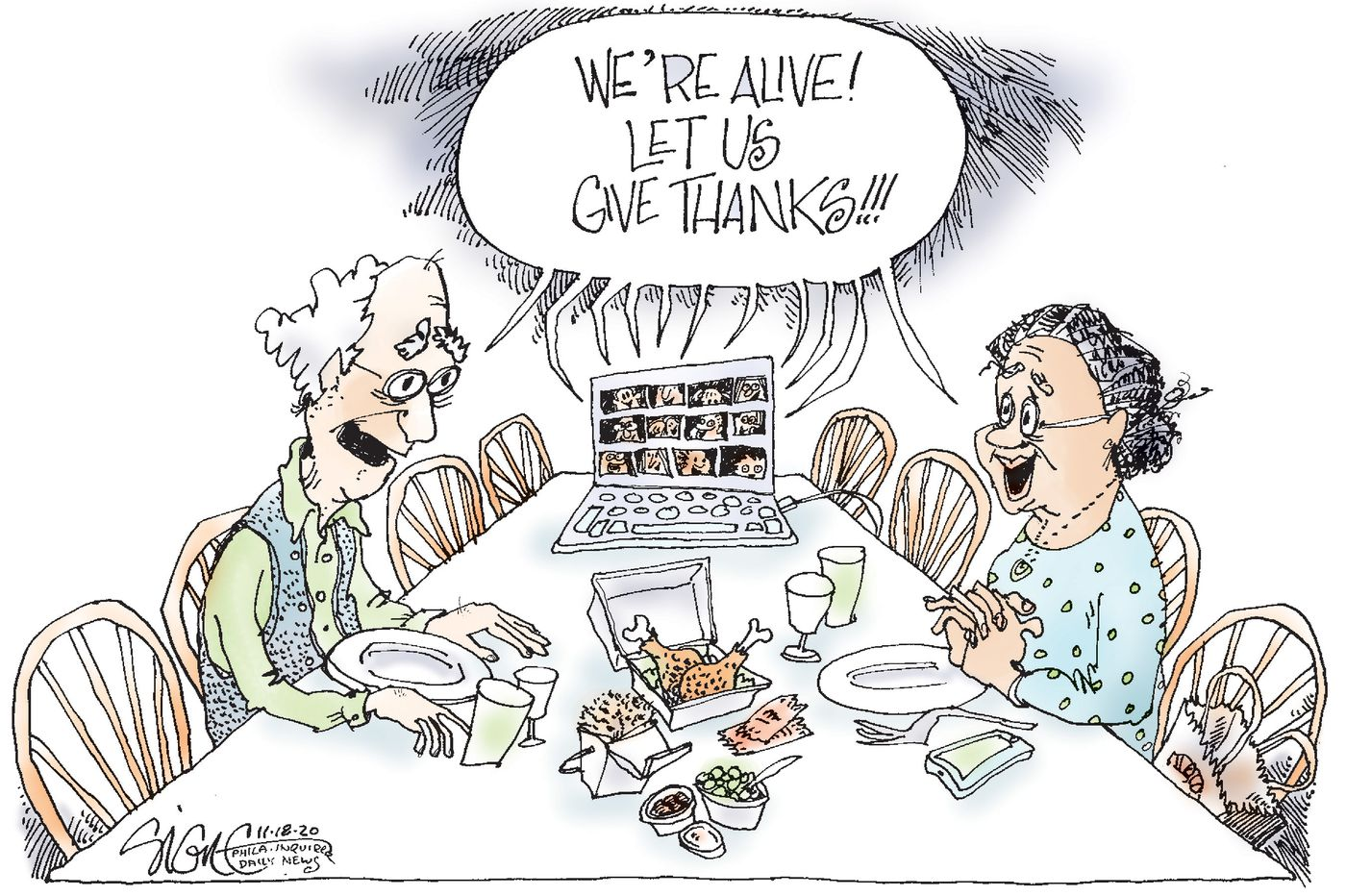 Political Cartoon: Giving thanks at our COVID-19 Thanksgiving