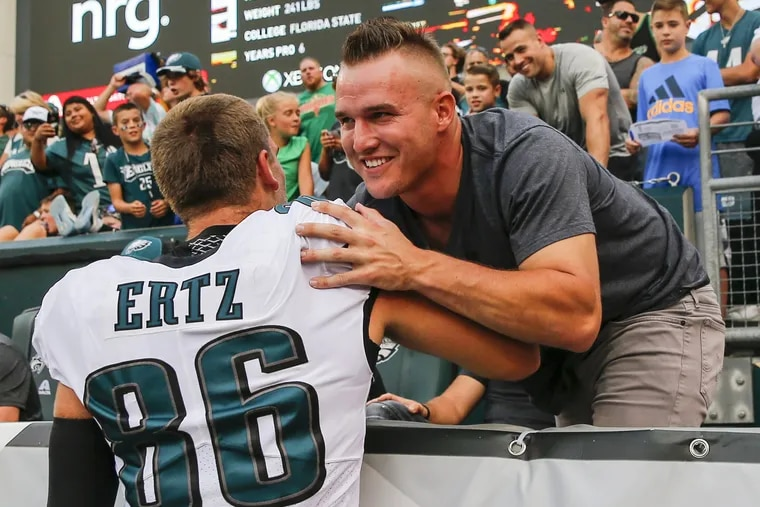 Might Mike Trout one day be on the field, and not in the stands, in South Philly?