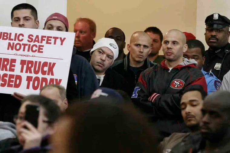 Camden residents and workers were grim at last week's City Council meeting on the city's massive layoffs, including nearly half its police force and a third of its firefighters.
