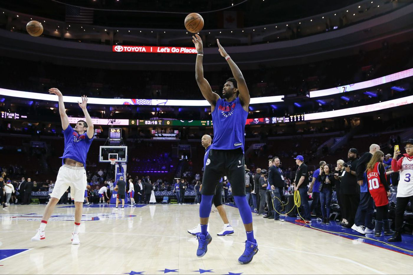 No word on Joel Embiid's status for Game 3