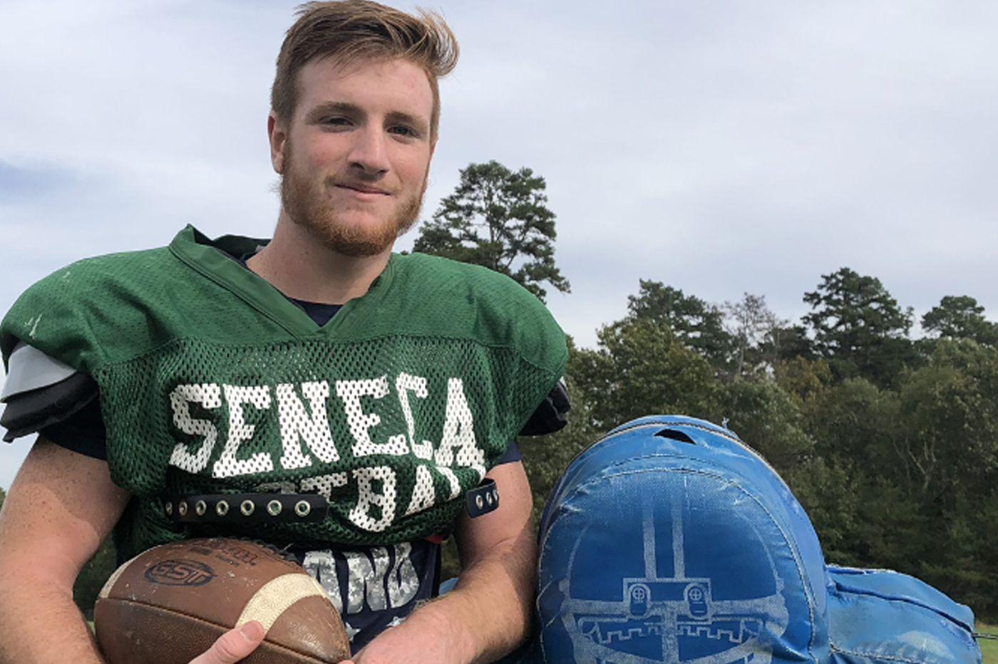 Kaden Hastie, converted RB and QB, leads Seneca football team