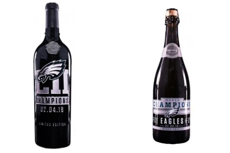 The Eagles-themed wine is available to buy online now and will soon be available in stores.