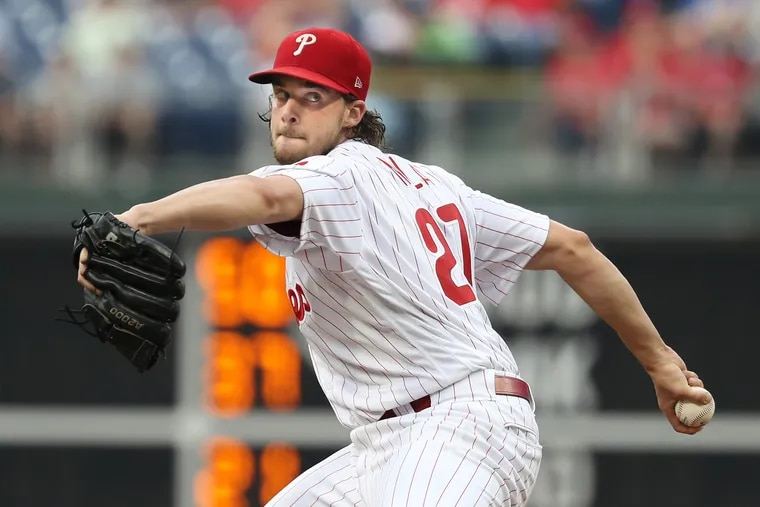 Aaron Nola has pitched 29 straight outings without allowing more than four runs — the second-longest such streak in the majors.