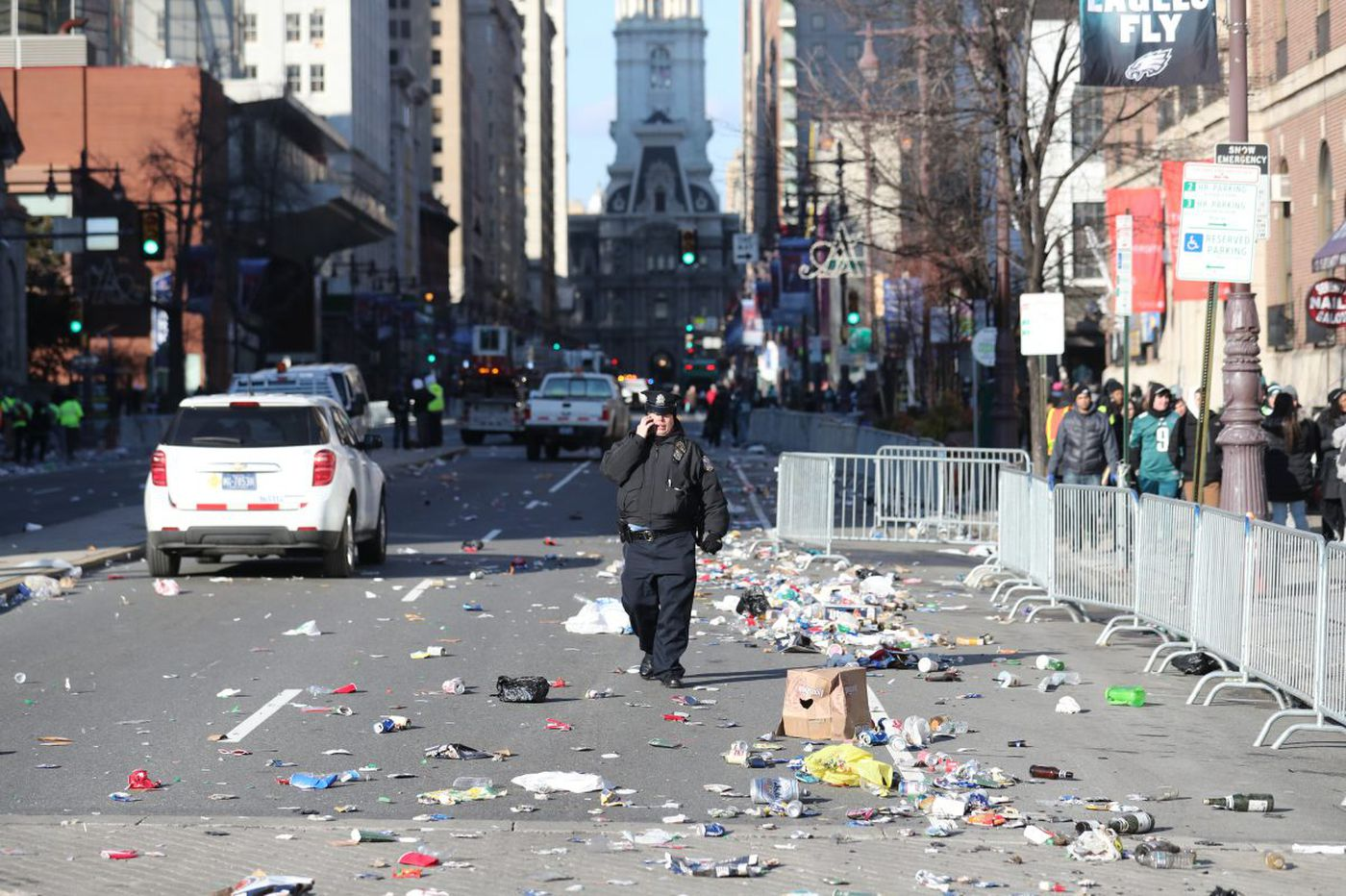 How will Philadelphia clean up after 2 million messy Eagles fans?