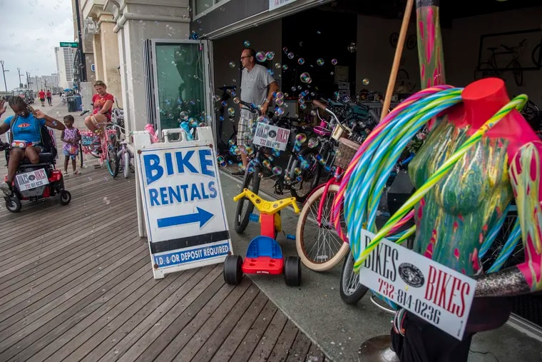 Cycles of Life on the Boardwalk in Atlantic City is one of a number of bike rental shops along the Jersey Shore.