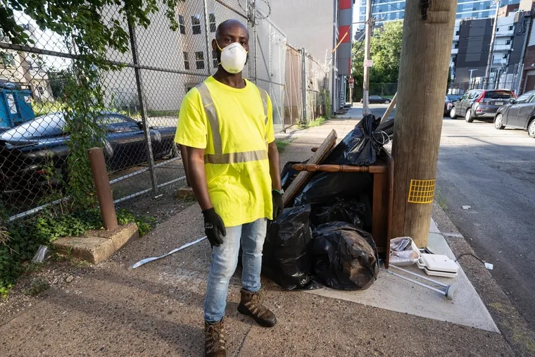 Philadelphia sanitation worker Terrill Haigler created an Instagram page with the handle @YaFavTrashman to help citizens of Philadelphia understand his job better.