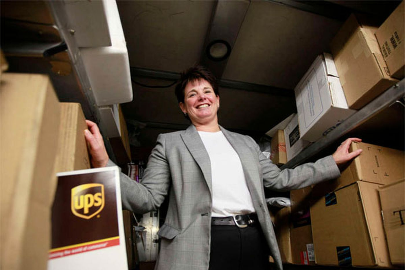A calm hand at the helm on UPS's busiest day