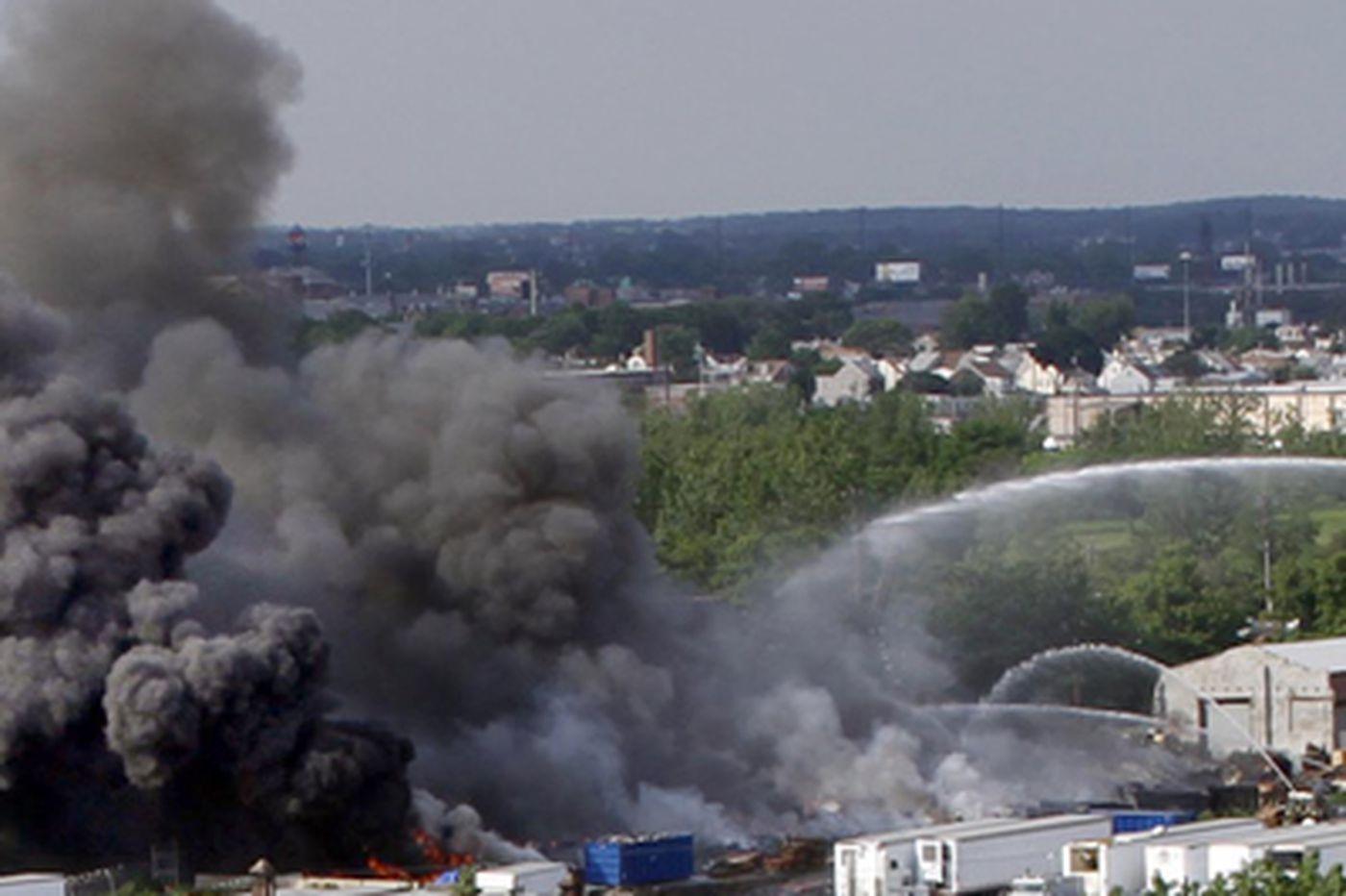 Three-alarm blaze in Bridesburg