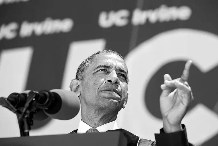 President Obama speaking about climate change last year at the University of California, Irvine. MANUEL BALCE CENETA / Associated Press