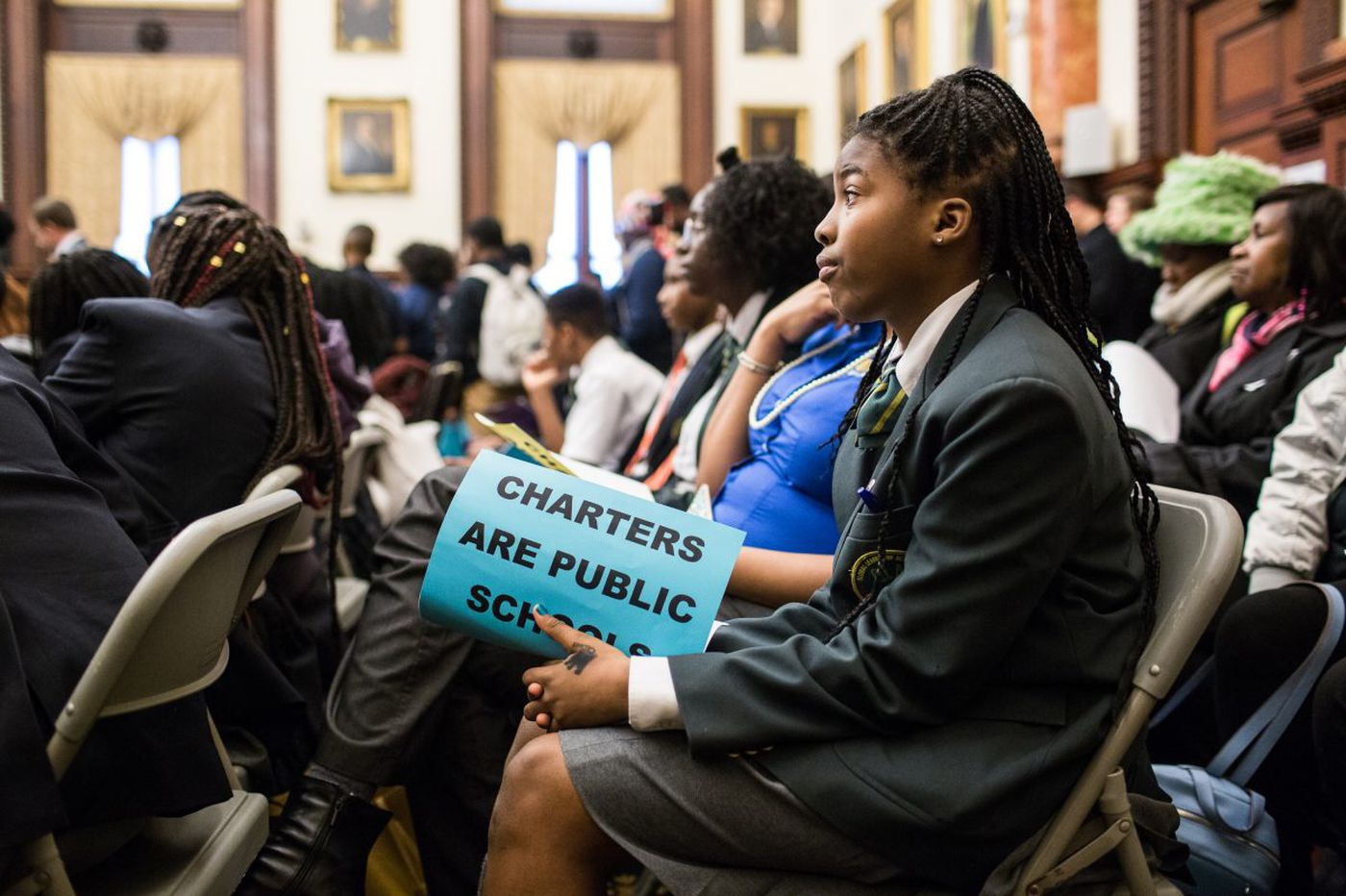 Amid a standoff with Philly schools, hundreds rally for charters