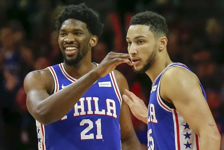 Sixers center Joel Embiid and Ben Simmons are both a go for Wednesday night's game against the Wizards.