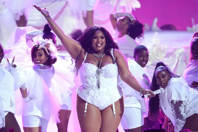 """Lizzo performs """"Truth Hurts"""" at the BET Awards in Los Angeles on June 23, 2019."""