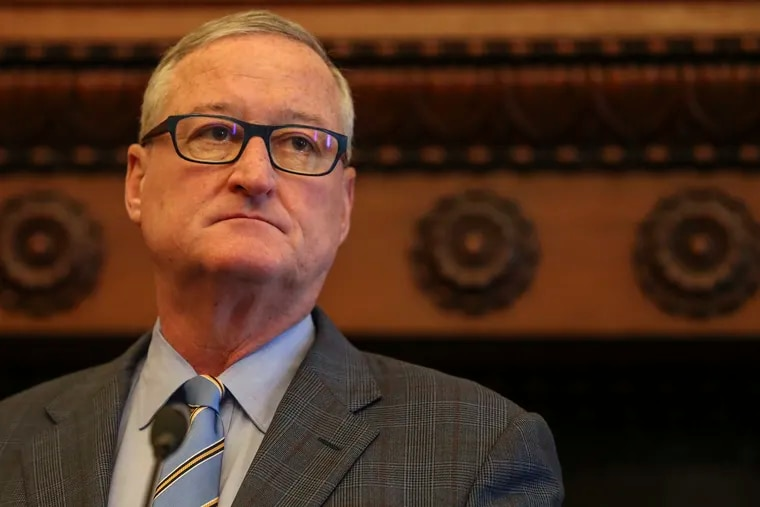Mayor Jim Kenney speaks during a press conference regarding the resignation of Philadelphia Police Commissioner Richard Ross at Philadelphia City Hall on Wednesday, Aug. 21, 2019.