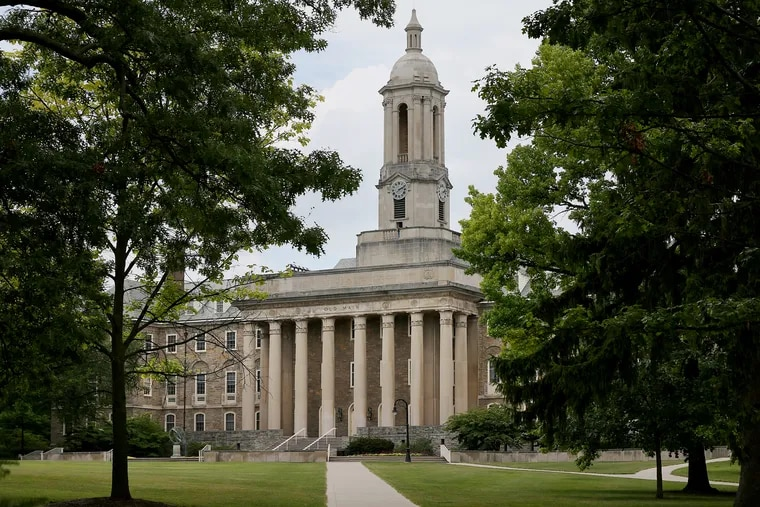 Old Main is pictured on the Penn State University campus in State College, Pa., on Tuesday, June 23, 2020.