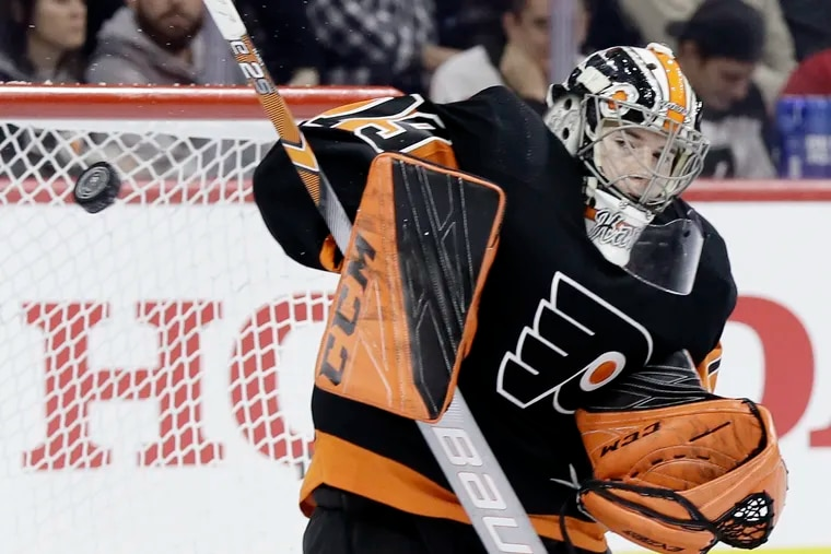 Goalie Carter Hart will try to bounce back from a rough preseason outing when the Flyers open their season Friday against Chicago in Prague.
