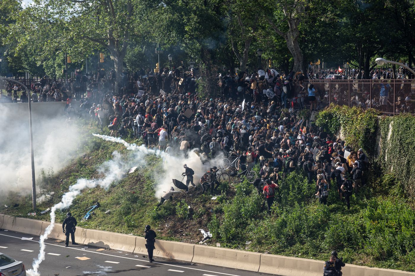 Using tear gas against protesters during an infectious outbreak is 'a recipe for disaster'